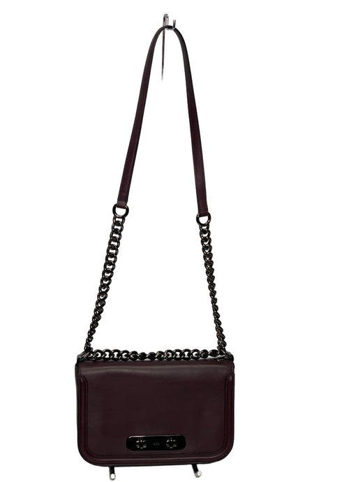 Oxblood Coach Chain Crossbody, Small