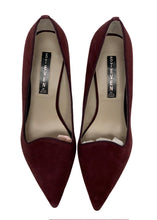 Load image into Gallery viewer, Burgundy Steven by Steve Madden Short Suede Pumps NWOT, 9