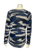 Load image into Gallery viewer, Blue 27 Miles- Malibu L/S Camo Cashmere Sweater, S
