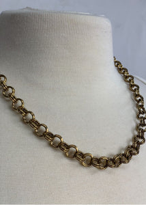 Gold N/B dark gold chain link necklace, N/S