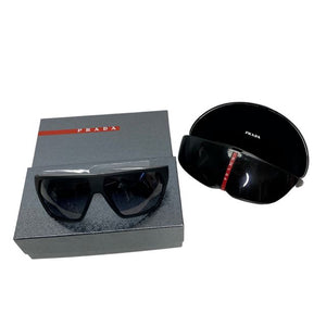 Black and Silver Prada Men's Sunglasses NWT, OS