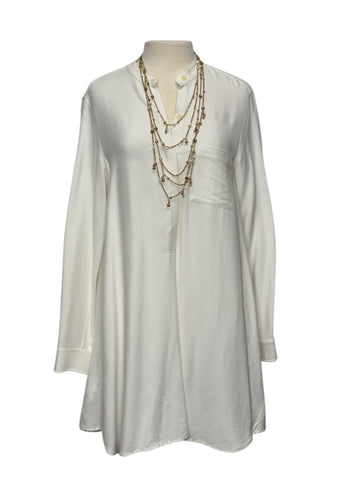 White BCBGMaxazria L/S Dress, M