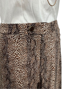 Brown Anthropologie Cropped Super Wideleg Pants, 6