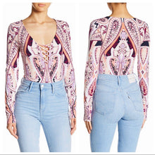 Load image into Gallery viewer, Purple Free People- NWT L/S Bodysuit, L