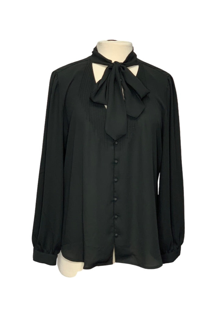 Black J Crew 365 L/S Blouse, 12