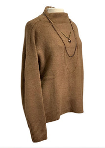 Brown Cable Stitch L/S Oversized Sweater, S