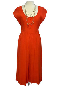 Orange Anthropologie S/S Jumpsuit, 10