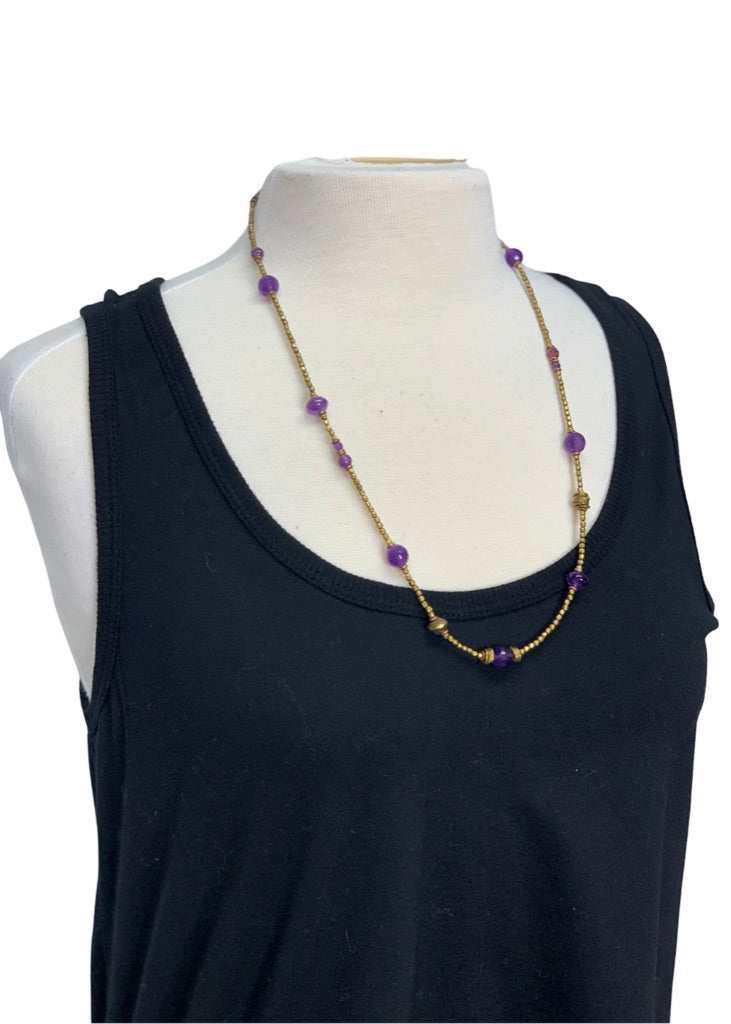 Purple Maker Unknown Purple Bronze Necklace, One Size