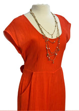 Load image into Gallery viewer, Orange Anthropologie S/S Jumpsuit, 10