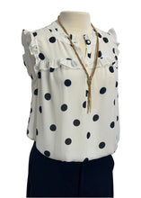 Load image into Gallery viewer, White Ann Taylor Loft N/S Blouse Tank, M