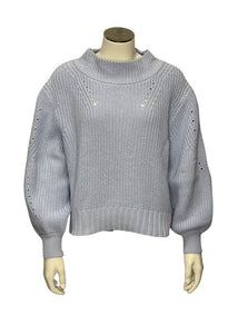 Baby Blue J Crew Cropped Sweater, S
