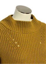Load image into Gallery viewer, Mustard J Crew L/S Oversized Crop Sweater, XS