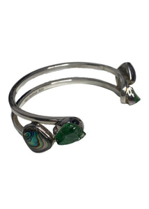 Silver Lilly Barrack Green and Multi Stone Bracelet, OS