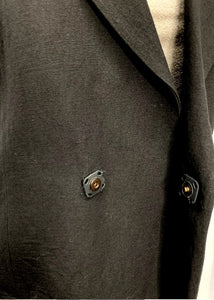 Black 0lll- Made in Italy N/S Blazer Long Wool/Linen, 44/M/L