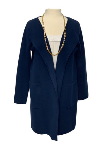 Navy J Crew 365 L/S Cardigan Sweater Jacket, M