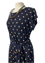 Load image into Gallery viewer, Navy Banana Republic S/S Wide Leg Jumpsuit, M Tall