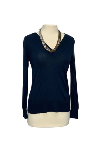 Navy Banana Republic L/S Silk Cashmere Sweater, S