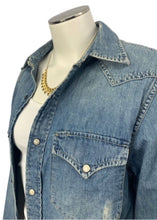 Load image into Gallery viewer, Blue Ralph Lauren Denim & Supply Button Down Denim Shirt, Small