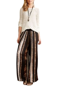 Brown Blank- London Anthropologie Flowy Pants, M