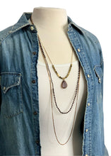 Load image into Gallery viewer, Bronze Banana Republic 3-Strand Necklace
