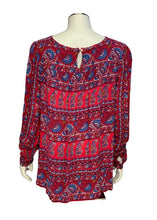 Load image into Gallery viewer, Red Ann Taylor Loft L/S Blouse, M