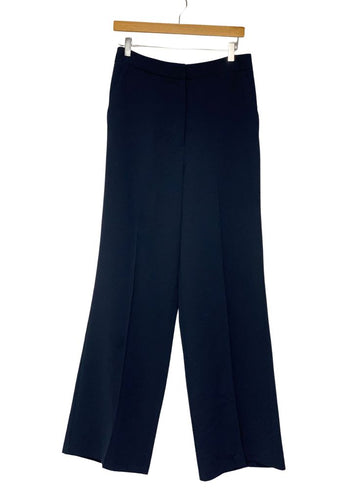 Navy TopShop Wide Leg Pleated Pants, 8