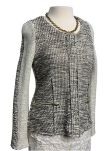 Cream and Grey Anthropologie Cartonnier Longsleeve Sweater, M