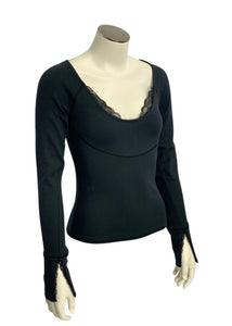 Black Free People- NWT L/S Fitted Top, S