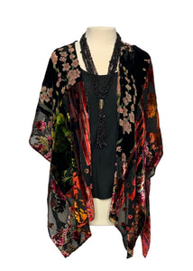 Black Floret- Anthropologie Kimono Blouse Top, OS