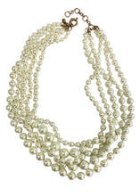 Load image into Gallery viewer, Pearl J Crew 5 Strand Pearl Necklace, N/S