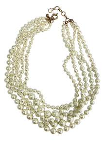 Pearl J Crew 5 Strand Pearl Necklace, N/S