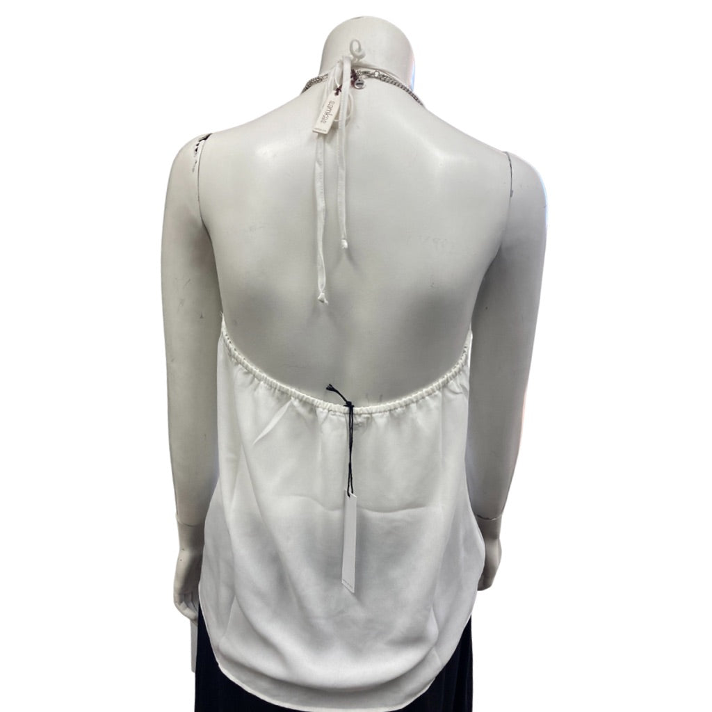 White Three Eighty Two Sleeveless Top, S