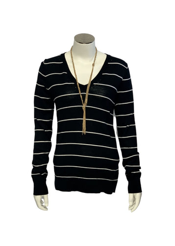 Black Banana Republic L/S Striped Sweater, S