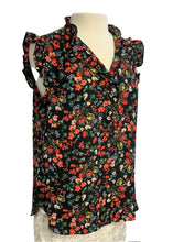 Load image into Gallery viewer, Black Multi Ann Taylor Loft Sleeveless Top, M