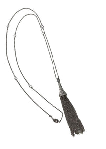 Silver Unknown Tassel Pendant Necklace, N/S