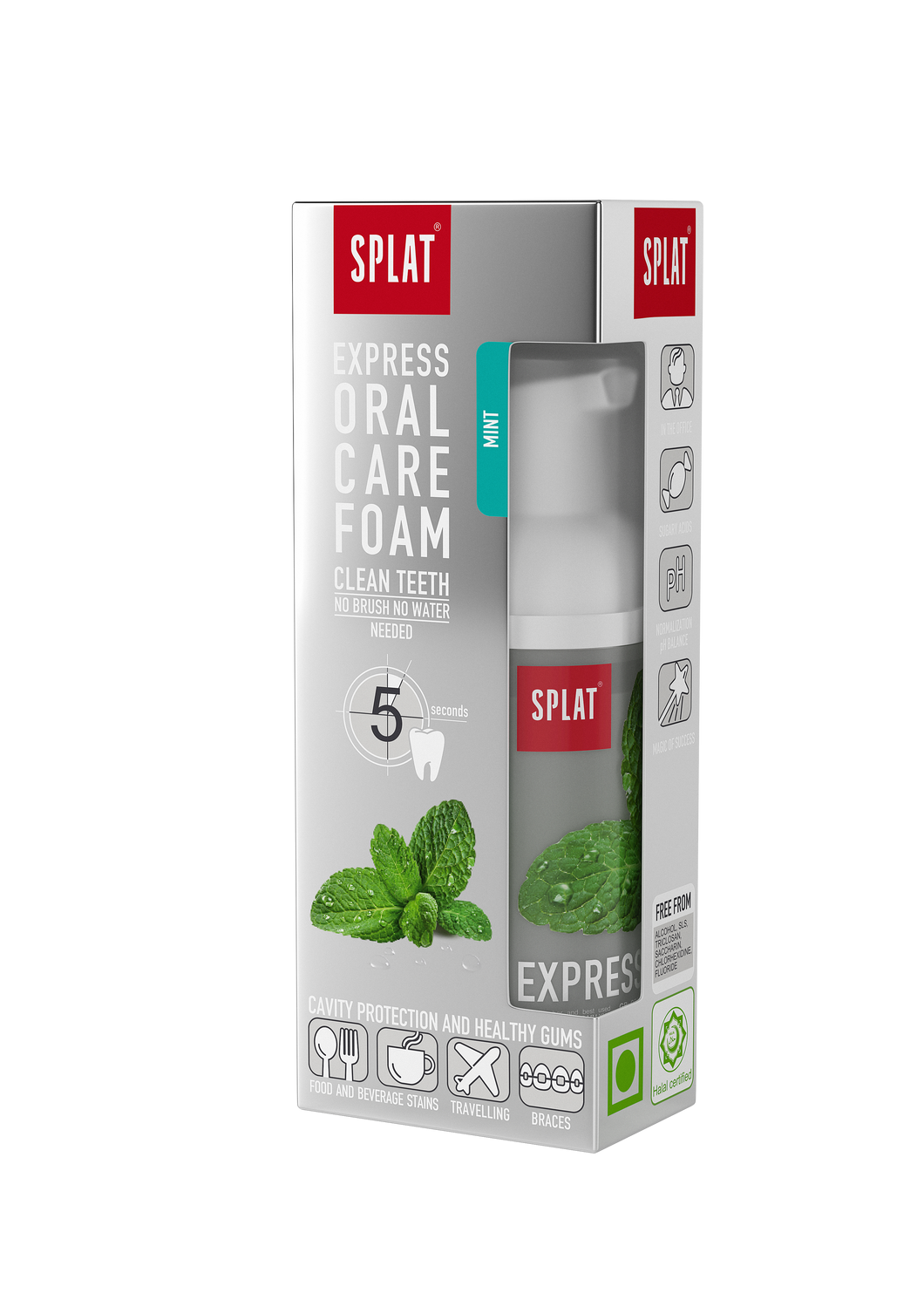 Mint Foam mouthwash - No water required