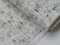 1/2  yard Megumi Sakakibara for Kei Fabric | Storybook The Wizard of Oz King of Lion Thumbelina | Japanese Import