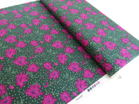 1/2 yard Liberty London Season's Greetings Poinsettia | 04775662X Pink/Green