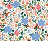 1/2 yard Rayon (not cotton) by Rifle Paper Co. Primavera from Cotton + Steel | Wild Rose | RP303-CR3R Cream Rayon Fabric