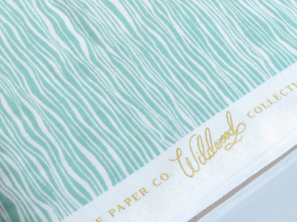 1/2 yard Cotton + Steel Rifle Paper Co. Wildwood - Faux Bois - Blue Fabric | RP107-BL1