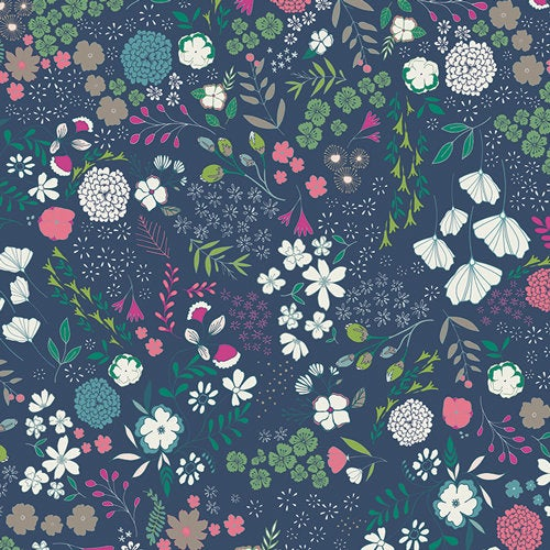 1/2 yard Blooming Ground Luscious from Flower Child Collection by Maureen Cracknell from Art Gallery Fabrics | FCD-67156