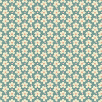 1/2 yard Strawberry Jam Blossoms Teal by Lauren Brewer for Riley Blake Designs | C9375-TEAL