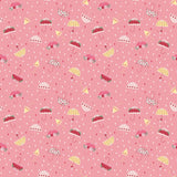 1/2 yard Singing in the Rain Umbrellas Pink by Beverly McCullough for Riley Blake Designs | C9362-PINK