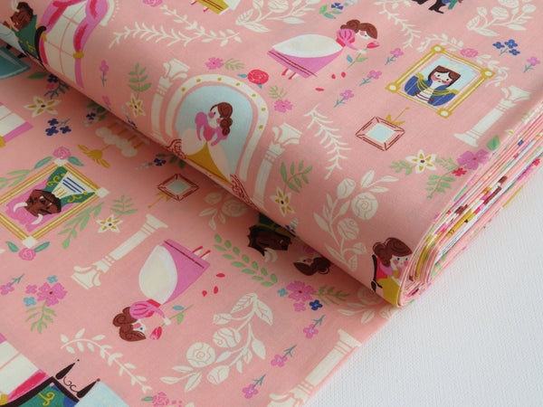 1/2 yard Beauty & the Beast Main Pink by Jill Howarth for Riley Blake Designs | C9530-PINK