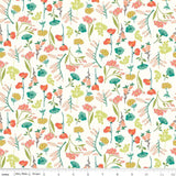 1/2 yard Midsummer Meadow Main Cream by Katherine Lenius for Riley Blake Designs | C9810-CREAM