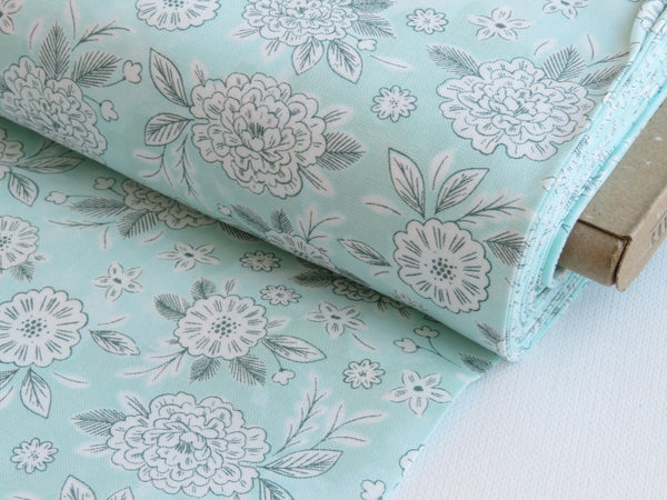 1/2 yard Flower Dream from Earth Magic Collection designed by Erin McManness of Paper Raven Co. | EM103-MA1 Magic Mint