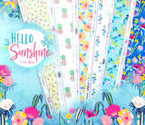 1/2 yard Caribbean Breeze by Katie Skoog from Hello Sunshine collection for Art Gallery Fabrics | HLS-66957