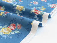Quilt Gate USA Blooming Rose Collection | # QUGRU2390-13D Blue | By the yard