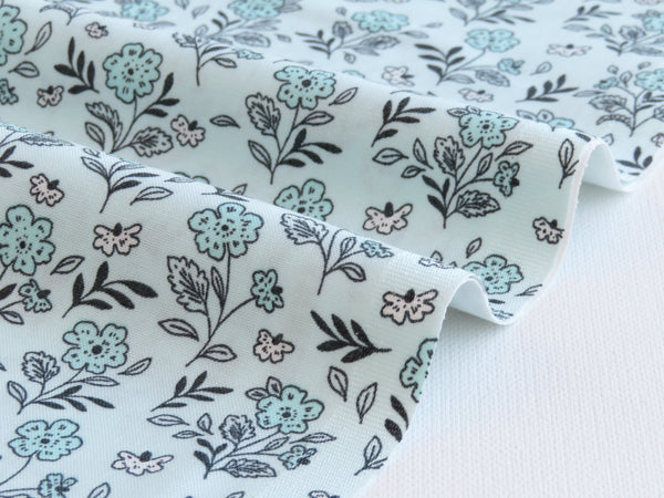 1/2 yard Floral Cluster from Earth Magic Collection designed by Erin McManness of Paper Raven Co. | EM104-LT3 Light Touch Mint
