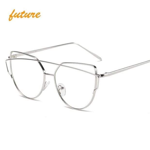 Cat Eye vintage mirror Sunglasses For Women